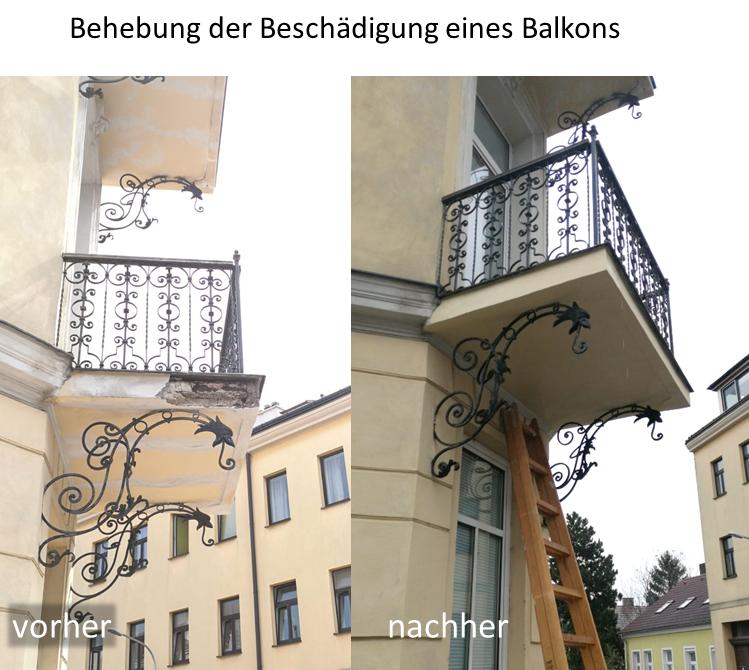 GP Schaden Verputzarbeiten Balkon