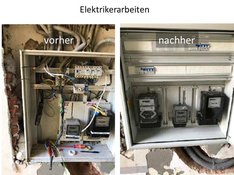 GP Schaden Elektrikerarbeiten